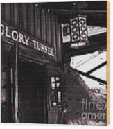 Glory Tunnel Mine Entrance In Calico California Wood Print by Susanne Van Hulst