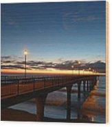 Glow On The Horizon Wood Print