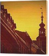 Glowing Balustrades Wood Print