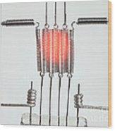 Glowing Filament 2 Of 4 Wood Print