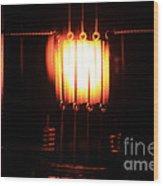 Glowing Filament 3 Of 3 Wood Print