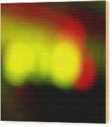 Glowing Orbs Of Yellow And Red Wood Print