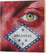 Go Arkansas  Wood Print by Semmick Photo