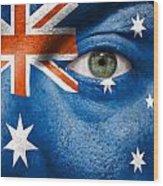 Go Australia Wood Print