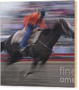 Rodeo Go For Broke Wood Print