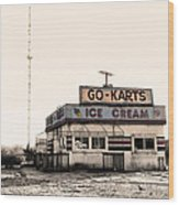 Go-karts - Wildwood New Jersey Wood Print