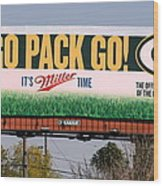 Go Pack Go Wood Print