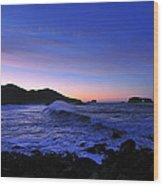 Goat Rock Sunrise Wood Print