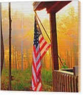 God Country Home Wood Print