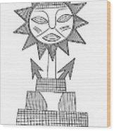 God Of Sun Wood Print by Michal Boubin