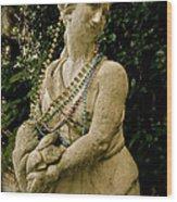 Goddess Of The Bayou Wood Print