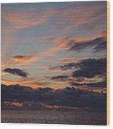 God's Evening Painting Wood Print