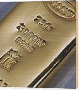 Gold Bullion Wood Print
