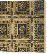 Gold Cathedral Ceiling Italy Wood Print