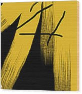 Gold Flare Wood Print
