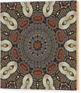 Gold Flower Cookie Wood Print