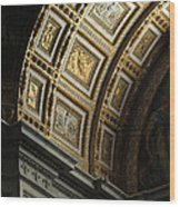 Gold Inlay Arches St. Peter's Basillica Wood Print