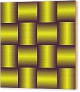 Gold Pattern A   Wood Print