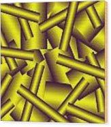 Gold Pattern C   Wood Print