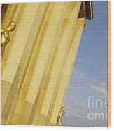 Gold Statue . Trocadero. Paris Wood Print