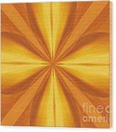 Golden 4 Leaf Clover  Wood Print