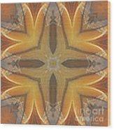 Golden Abstarct Energy Wood Print