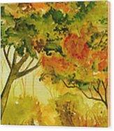 Golden Autumn Day Wood Print