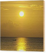 Golden Bahamas Sunset Wood Print