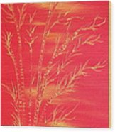 Golden Bamboo 2 Wood Print by Pretchill Smith