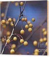 Golden Berries Wood Print