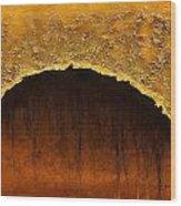 Golden Cave Wood Print