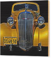 Golden Chevrolet Wood Print