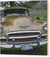 Golden Chevy Wood Print