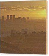 Golden City Wood Print