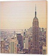Golden City Of New York Wood Print