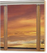 Golden Country Sunrise Window View Wood Print by James BO  Insogna
