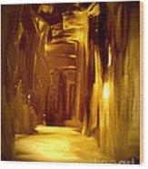 Golden Future Wood Print