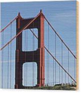Golden Gate North Tower Wood Print