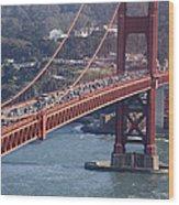 Golden Gate Traffic Wood Print