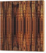 Golden Gothic Wood Print