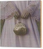 Golden Handbag Wood Print