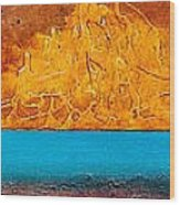 Golden Island  Wood Print