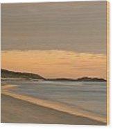 Golden Light After A Sunset At A Beach Wood Print