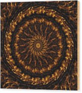 Golden Mandala 1 Wood Print