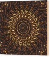 Golden Mandala 3 Wood Print