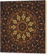 Golden Mandala 6 Wood Print