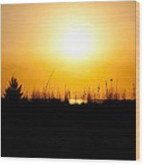 Golden Margarita Sunset Wood Print