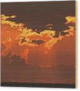 Golden Orange V5 Wood Print