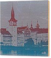 Golden Prague Wood Print by Naxart Studio