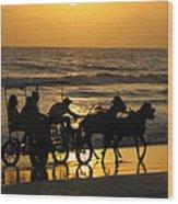 Golden Rides Wood Print